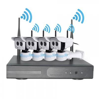 Plug and play Wireless NVR kits with smart rotating bracket support APP control